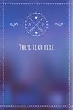 邀请或任何文本的冬天手拉的模板 免版税库存图片