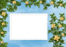 邀请的看板卡与兰花和枝杈 免版税图库摄影