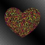 邀请的被隔绝的对象黑暗的呈虹彩心脏 库存照片