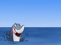 邀请鲨鱼 库存例证