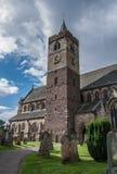邓布兰大教堂塔和坟园在斯特灵 免版税库存图片