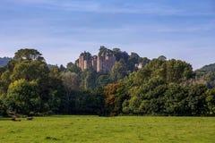 邓斯特城堡在萨默塞特英国 免版税库存图片