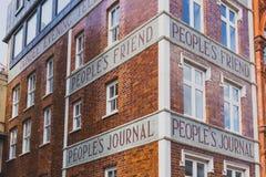 邓迪传讯者大厦的外部 免版税库存图片