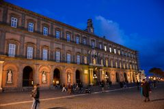 那不勒斯圣克罗剧院,旅行意大利,拿坡里 库存图片