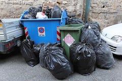 那不勒斯垃圾 图库摄影