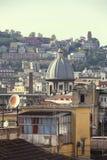 那不勒斯屋顶 库存照片