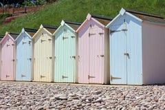那不勒斯海滩的小屋 免版税库存图片