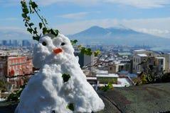那不勒斯的雪人 库存照片
