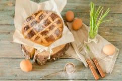 那不勒斯的饼用麦子和乳清干酪,静物画 库存照片
