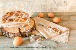 那不勒斯的饼用麦子和乳清干酪 库存照片