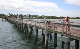 那不勒斯码头在佛罗里达 库存照片
