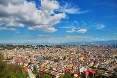 那不勒斯,南意大利空中风景看法  库存图片