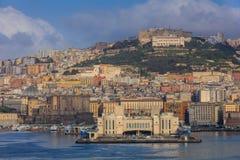 那不勒斯,意大利港  免版税库存照片