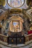 那不勒斯,意大利, 6月01日:那不勒斯大教堂中央寺院二圣热纳罗在2016年6月01日的意大利 免版税库存图片