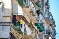那不勒斯,意大利, 6月01日:那不勒斯街道,在2016年6月01日的意大利 图库摄影