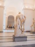那不勒斯,意大利-18在那不勒斯全国考古学博物馆可以2015年-赫拉克勒斯雕象  库存图片