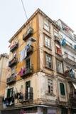 那不勒斯,意大利- 2016年1月16日:老镇街道视图Na的 免版税图库摄影