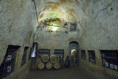 那不勒斯,意大利- 6月01 :那不勒斯古老地下画廊在那不勒斯, 2016年6月01日的意大利 免版税库存照片