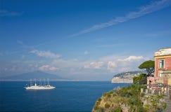 那不勒斯,索伦托意大利海湾  库存照片