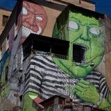 那不勒斯, murales司法精神病院 免版税库存照片