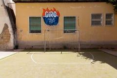 那不勒斯, murales司法精神病院 免版税库存图片
