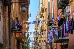 那不勒斯(拿坡里),意大利- 6月11 :街道那不勒斯, 20 6月11日, 免版税库存照片