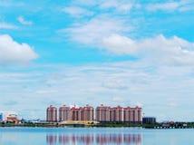 那个luang湖在老挝PDR 免版税库存图片
