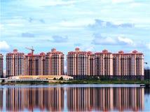 那个luang湖在老挝PDR 免版税库存照片