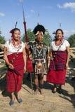 那加兰邦,印度犀鸟节日  库存照片