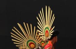 那加兰邦,印度纳卡人部落顶头齿轮  库存图片