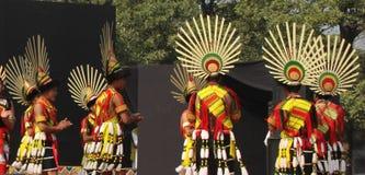 那加兰邦,印度纳卡人部落  图库摄影