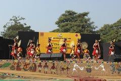 那加兰邦,印度纳卡人部落  库存图片