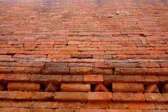 那烂陀寺Mahavihara砖细节 免版税图库摄影