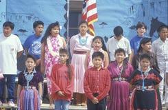 那瓦伙族人学童 免版税库存图片