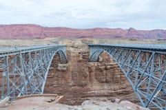 那瓦伙族人桥梁,亚利桑那沙漠 库存照片