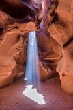 那瓦霍尔人保留地的羚羊峡谷在页,亚利桑那,美国附近 免版税库存图片