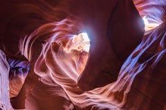 那瓦霍尔人保留地的羚羊峡谷在页,亚利桑那,美国附近 库存图片