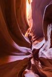 那瓦霍尔人保留地的羚羊峡谷在页,亚利桑那,美国附近 免版税库存照片