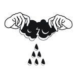 那里下雨来自 免版税库存照片