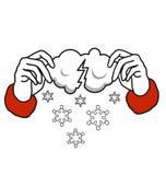 那里下雪来自 免版税库存图片