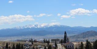 那里在小山,蒙大拿的` s waldo 免版税库存照片
