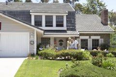 那里外面系列房子 免版税库存图片