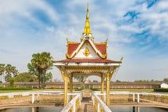 那Sikhottabong,佛教寺庙在他曲,老挝 图库摄影