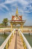那Sikhottabong,佛教寺庙在他曲,老挝 免版税图库摄影