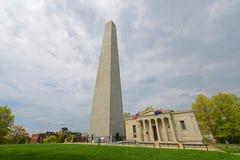 邦克山纪念碑, Charlestown,波士顿,麻省,美国 库存图片