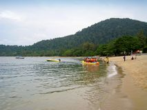 邦咯岛,马来西亚海边看法  库存图片