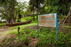 邦斯海岛,塞拉利昂,西非-英国奴隶贸易 库存照片