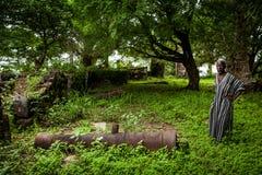 邦斯海岛,塞拉利昂,西非-英国奴隶贸易 免版税库存图片