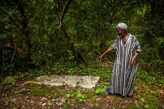 邦斯海岛,塞拉利昂,西非-英国奴隶贸易 图库摄影