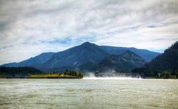 邦纳维尔水坝溢洪道  免版税库存图片